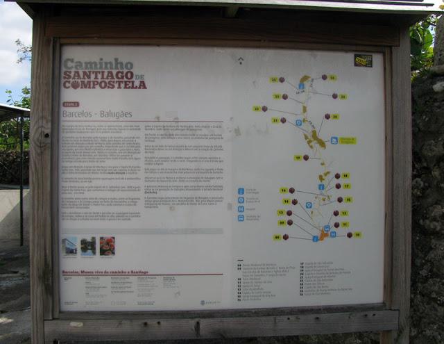 Mural explicativo do Caminho de Santiago