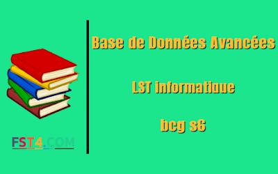 Cous Base de Données Avancées mip s6 pdf