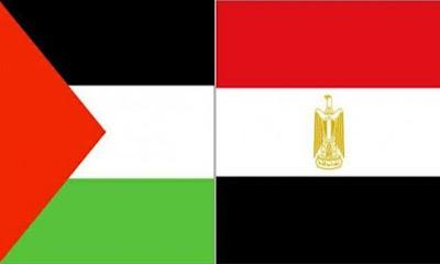 علم فلسطين+علم مصر