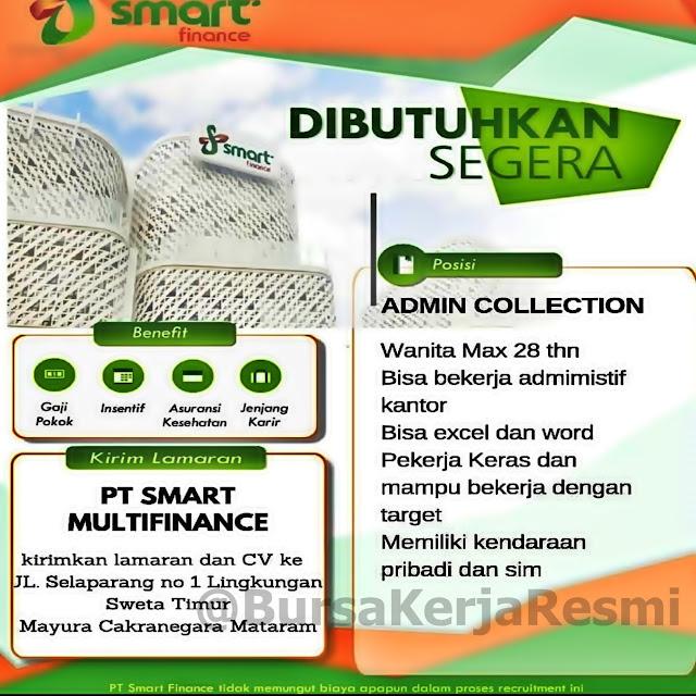 Lowongan Kerja PT Smart Multifinance Mataram Lombok NTB