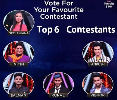 top 6 indian idol 10