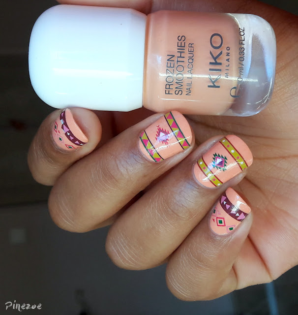 Kiko Frozen Smoothies fair persimmon et water decals aztèques née jolie
