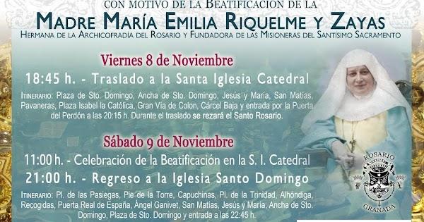 Horario e Itinerario Traslados y Procesión de Santísima Virgen del Rosario Coronada