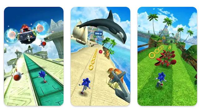 تحميل لعبة سونيك داش Sonic Dash آخر إصدار للأندرويد