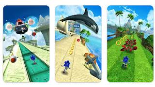 تحميل لعبة سونيك داش Sonic Dash مهكره آخر إصدار للأندرويد