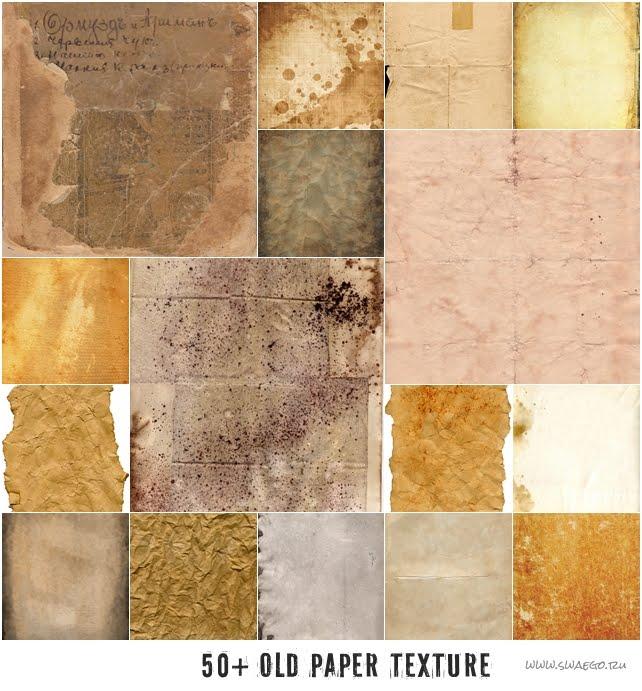 50+ Текстур старой бумаги для Фотошопа