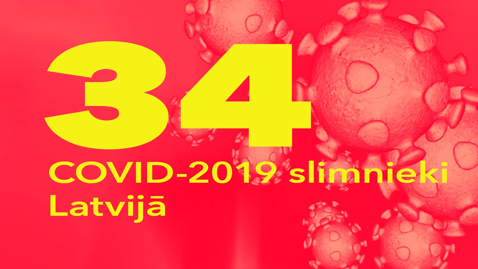 Koronavīrusa saslimušo skaits Latvijā