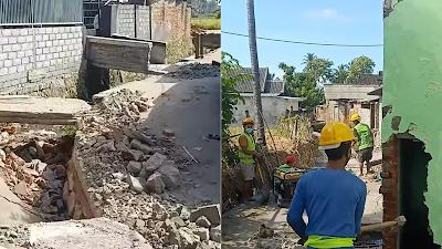 Penertiban Bangunan Liar di Atas Saluran Irigasi di Desa Songak Berjalan Aman