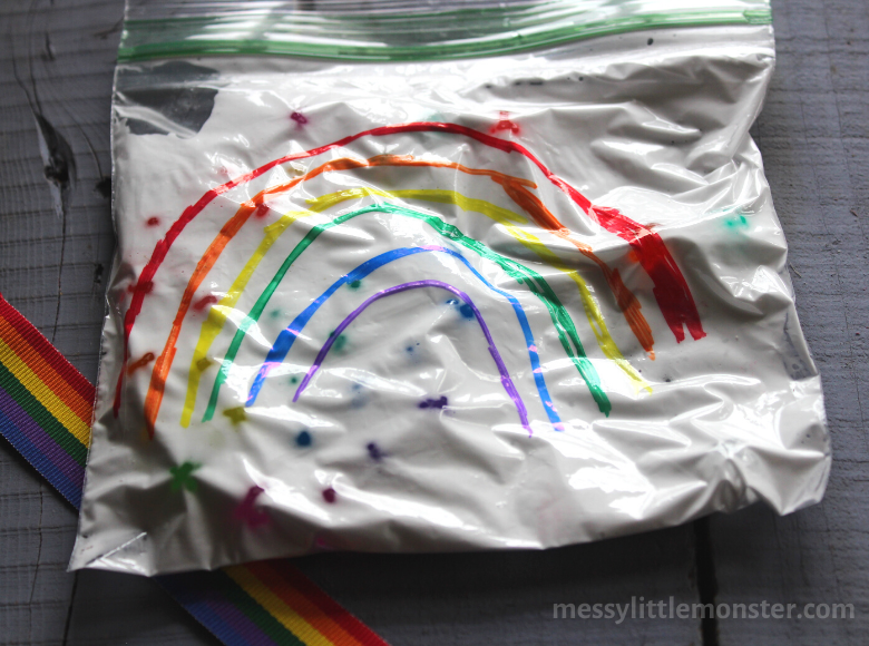rainbow sensory play for toddlers