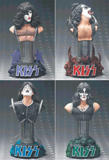 Metal Toys Mini Busto Kiss - Paul Stanley Gene Simmons Ace Frehley Peter Criss
