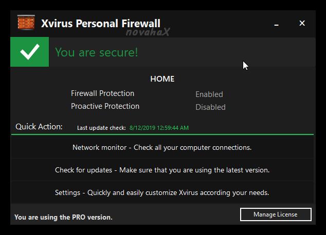 Xvirus Personal Firewall Key