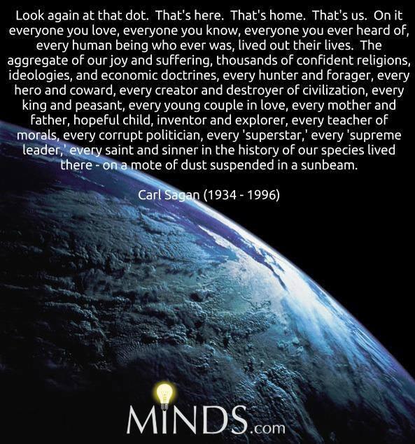 Carl Sagan Love Quote: YELLOWDOG GRANNY: Argh....trip, Stumble And Fall Flat Into