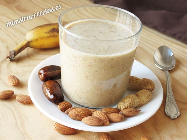 Batido de frutos secos sin leche ni azucar