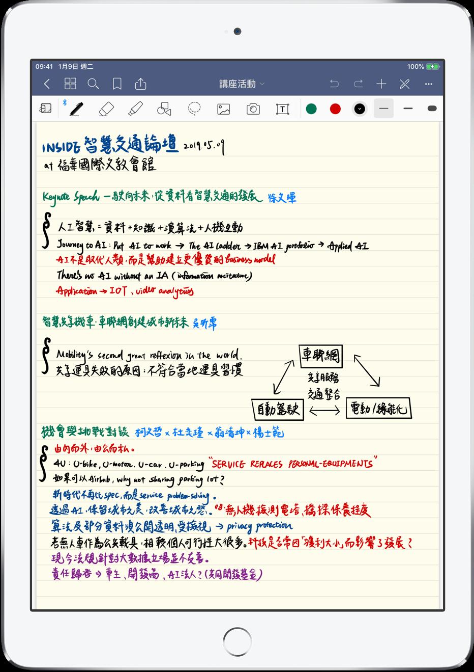 iPad 筆記本