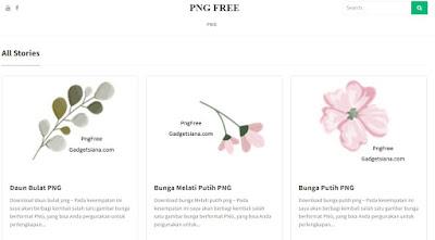 Download Gambar Bunga PNG Gratis Beragam Jenis