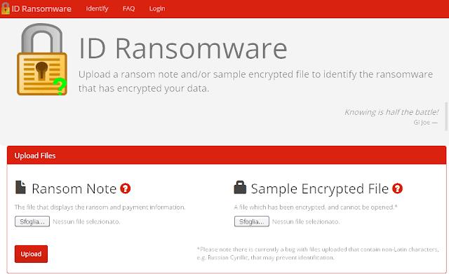 Sito web ID Ransomware