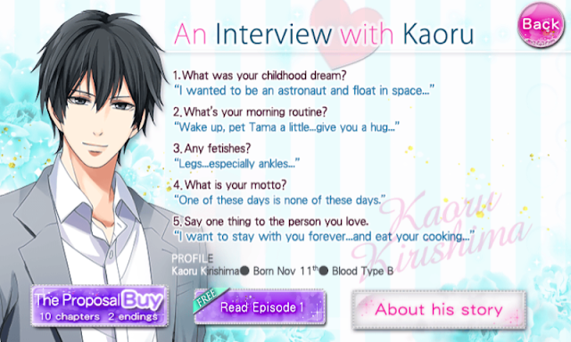 Our Two Bedroom Story Character Interview