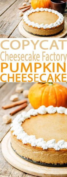 COPYCAT THE CHEESECAKE FACTORY PUMPKIN CHEESECAKE RECIPE