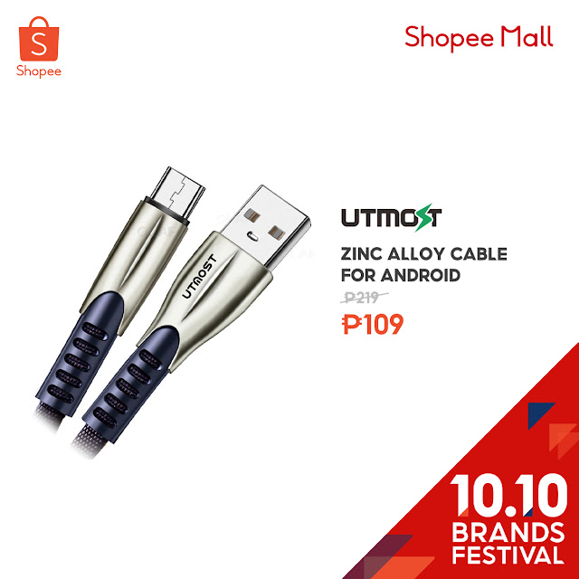 Zinc Alloy Cable for Android at 50% Off on Shopee's 10.10 Brands Festival