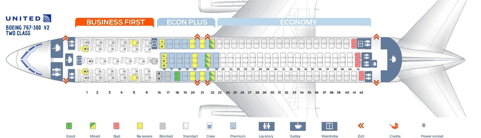 Elegant United Boeing 767 300 Seat Map Seat Inspiration
