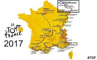 Percorso del Tour de France 2017 di ciclismo