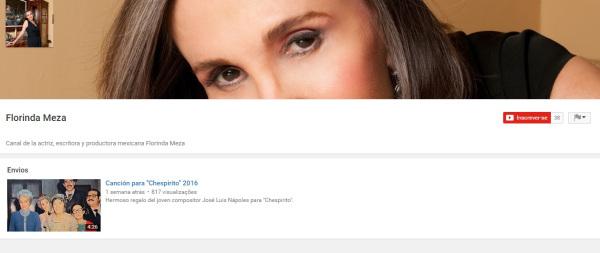 Ela tem um canal no youtube