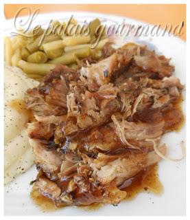 Rôti de porc miel, ail et parmesan