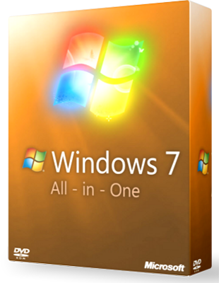 Microsoft Windows 7 Aio SP1 poster box cover