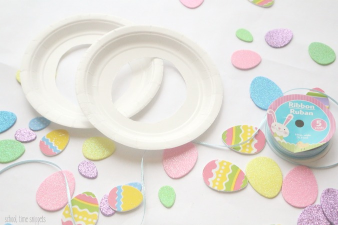 Easter wreath craft for toddlers