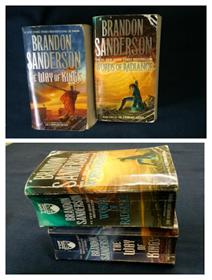 Stormlight Archive Mass Market Paperback editions of The Way of Kings and The Words of Radiance