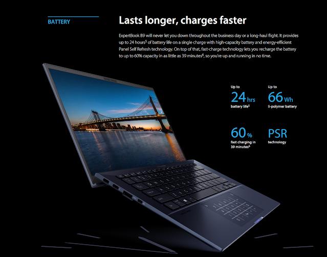 daya tahan baterai laptop bisnis asus
