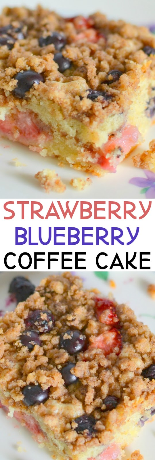 This delicious made from scratch coffee cake is packed full of berries and is great for dessert, brunch or breakfast! Also delicious with blackberries, raspberries, cherries or cranberries! Try this cake and it will be a new family favorite!