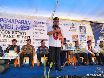 Tony Eka Candra Paparkan Visi Misi Balon Bupati Lampung Selatan