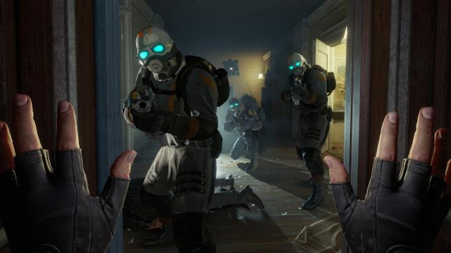 Half Life Alyx  is an amazing virtual reality game. In it you have to act as Alix Vance. He and his father are fighting the Alliance it is an alien race.