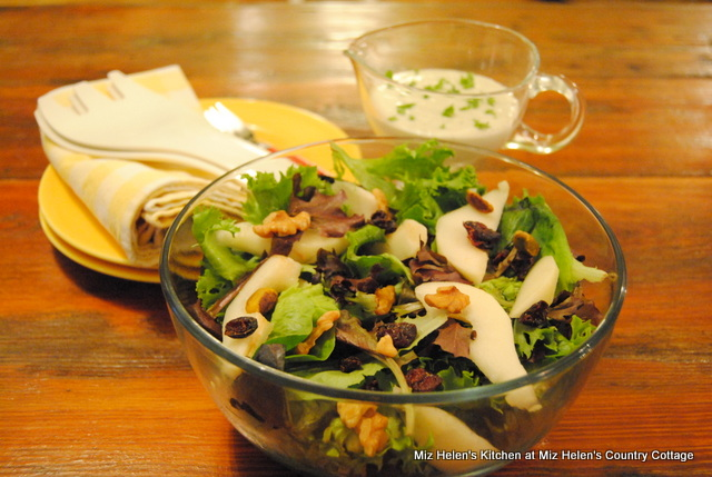 Pear Salad With Blue Cheese Ranch Dressing at Miz Helen's Country Cottage
