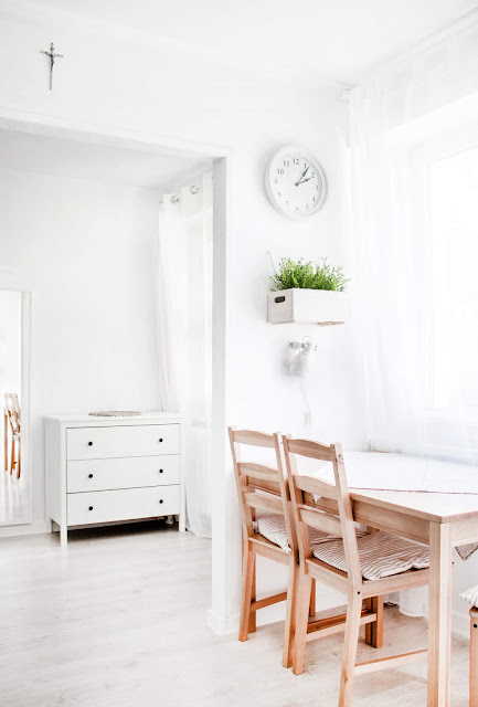 Light colored wood furniture