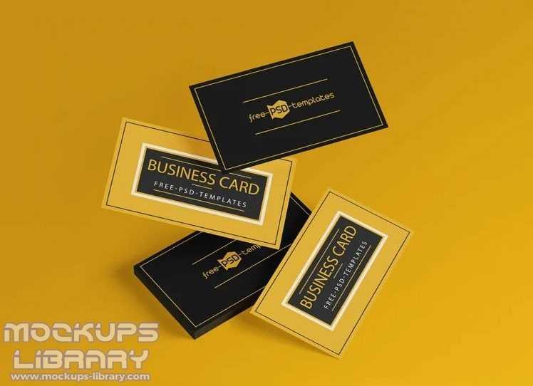 gravity business card mockups