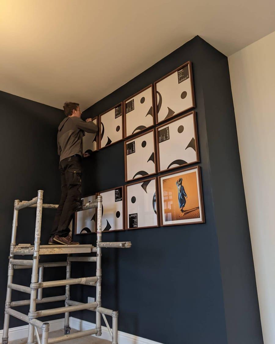 how we designed gallery wall liquid grain scottish