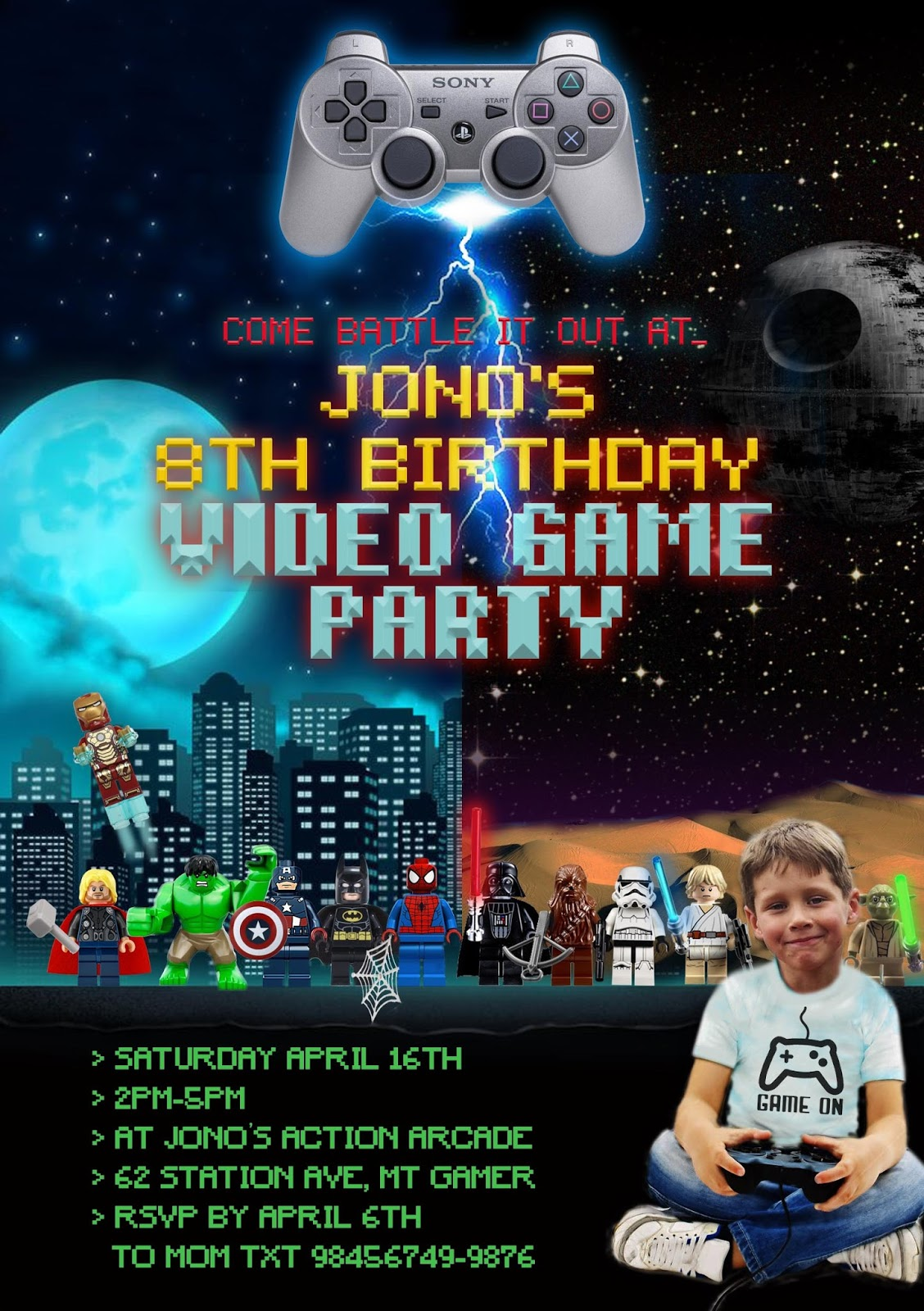 Great Fun etc: Action-Packed Video Game Party: *Star Wars vs ...