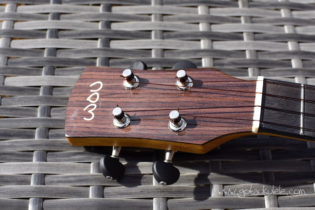 World Of Ukes Pioneer T1 Tenor Ukulele headstock