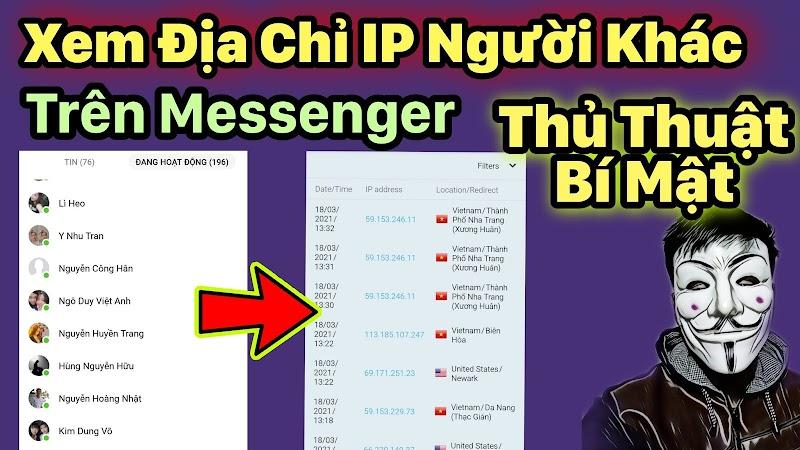 Cách tạo link Lấy địa chỉ IP bạn bè trên Messenger
