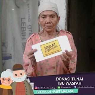 Ibu Wasiah ; Donasi Tunai