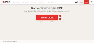 cara menyimpan word to pdf online