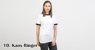 Kaos Ringer merupakan salah satu kaos kekinian yang bisa kamu jadikan pilihan untuk souvenir