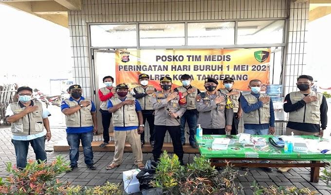 Jajaran Polda Banten Amankan Aksi May Day Secara Humanis dengan Protokol Kesehatan yang Ketat