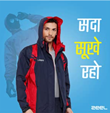 ZEEL AZ05 Seam Sealed Raincoat With Stylish Long Jacket, Hood, Waterproof Pant and Carrying Pouch