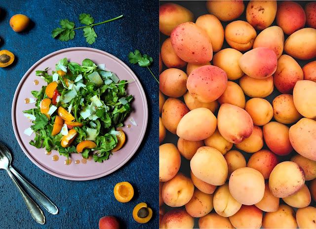 Salat mit Aprikose und Parmesan