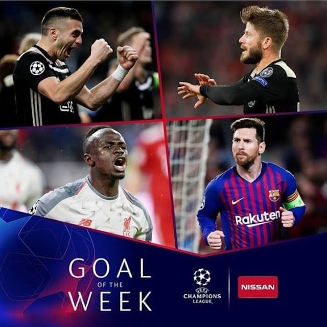 HAWA NDIO WANAOWANIA GOLI BORA LA WIKI HII LA UEFA CHAMPIONS LEAGUE.