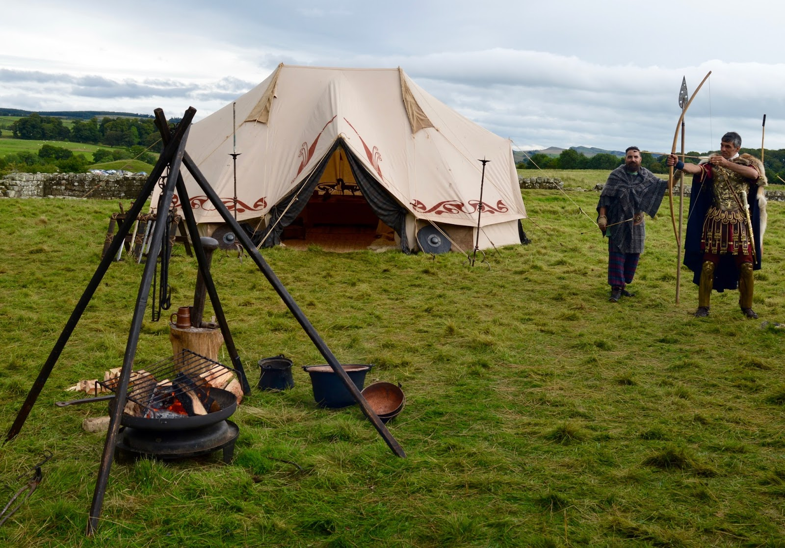 Hadrian's Wall Live 2016 | Birdoswald Roman Fort & Housesteads - A Review - barbarian camp