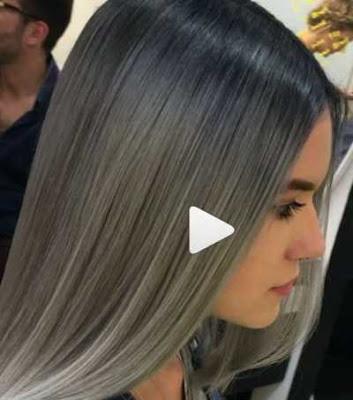 warna rambut abu-abu